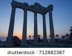 temple of apollo with a... | Shutterstock . vector #712882387