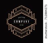 vintage badge art deco logo... | Shutterstock .eps vector #712884271