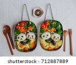 fun and delicious homemade...   Shutterstock . vector #712887889