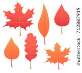 autumn leaf. autumn maple leaf... | Shutterstock .eps vector #712887919