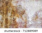 metal rust background metal... | Shutterstock . vector #712889089