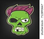 halloween character   vector... | Shutterstock .eps vector #712893667