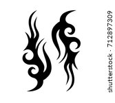 tribal tattoo art designs.... | Shutterstock .eps vector #712897309