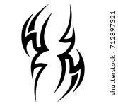 tattoo tribal vector design.... | Shutterstock .eps vector #712897321