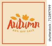 autumn sale badge. discount... | Shutterstock .eps vector #712897999