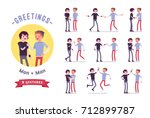 teens greeting ready to use... | Shutterstock .eps vector #712899787