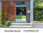 home decorated with wooden... | Shutterstock . vector #712900129