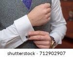 classy young caucasian male... | Shutterstock . vector #712902907