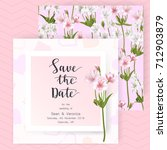 save the date card  wedding...   Shutterstock .eps vector #712903879