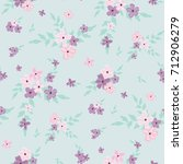 fashionable pattern in small... | Shutterstock . vector #712906279