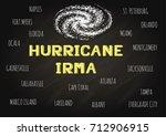 hand lettering hurricane irma... | Shutterstock .eps vector #712906915
