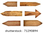 collection of wooden signs on... | Shutterstock . vector #71290894