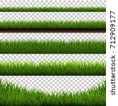 grass border big set  vector... | Shutterstock .eps vector #712909177