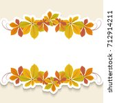 autumn background  cutout paper ... | Shutterstock .eps vector #712914211