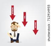 business fail. graph down... | Shutterstock .eps vector #712914955