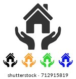 house care hands icon. vector... | Shutterstock .eps vector #712915819