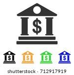 american bank building icon.... | Shutterstock .eps vector #712917919