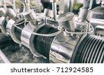 industrial machine in the... | Shutterstock . vector #712924585