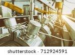 industrial machine in the... | Shutterstock . vector #712924591