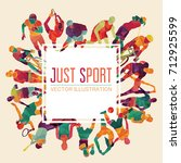 color sport background.... | Shutterstock .eps vector #712925599