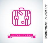 suitcase travel line vector icon | Shutterstock .eps vector #712925779