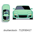 vector flat style cars in... | Shutterstock .eps vector #712930417