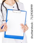 smiling female doctor assistant ... | Shutterstock . vector #712930999