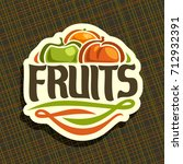 vector logo for set fresh... | Shutterstock .eps vector #712932391