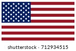 flag of the united states of... | Shutterstock .eps vector #712934515