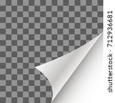 vector paper page curl with... | Shutterstock .eps vector #712936681