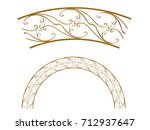 golden ornamental segment  ... | Shutterstock . vector #712937647