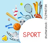 sport background. vector... | Shutterstock .eps vector #712940734