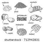 german cuisine. collection of... | Shutterstock .eps vector #712942831