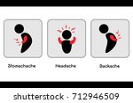 body ache painful vector ... | Shutterstock .eps vector #712946509
