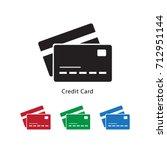 credit card icon vector... | Shutterstock .eps vector #712951144