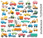 cartoon cars collection | Shutterstock .eps vector #712954549