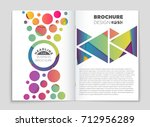 abstract vector layout... | Shutterstock .eps vector #712956289