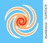 hurricane season sign logo | Shutterstock .eps vector #712957675