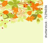 Autumn colorful leaves background. Jpeg version also available in gallery - stock vector