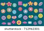 sewing buttons handmade craft... | Shutterstock .eps vector #712962301