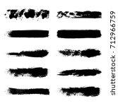 grunge shape texture set.... | Shutterstock .eps vector #712966759