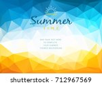 polygonal shapes summer time... | Shutterstock .eps vector #712967569
