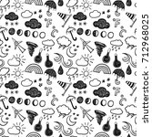 weather seamless pattern | Shutterstock .eps vector #712968025