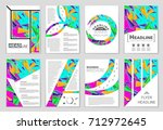 abstract vector layout... | Shutterstock .eps vector #712972645