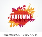 template design circle autumn... | Shutterstock .eps vector #712977211