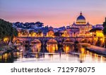 st. peter's cathedral at night... | Shutterstock . vector #712978075