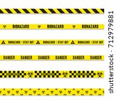 hazard danger yellow seamless... | Shutterstock .eps vector #712979881