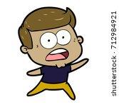 cartoon shocked man | Shutterstock .eps vector #712984921