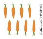 carrots   vector illustration | Shutterstock .eps vector #712985965