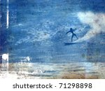 Surf Poster With Surfer In Wav...